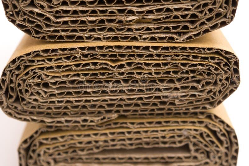 Dwarsdoorsneden van golfkarton royalty-vrije stock fotografie