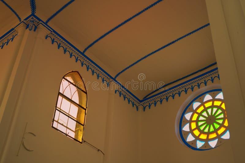 Dwarsschipdak van kerk van Heilige Francis Xavier Melaka Malaysia royalty-vrije stock fotografie