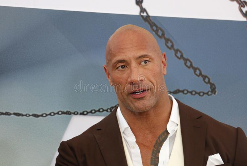 Dwayne Johnson photo libre de droits