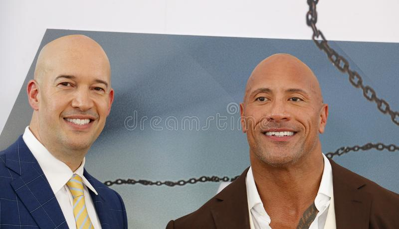 Dwayne Johnson et Hiram Garcia photo stock