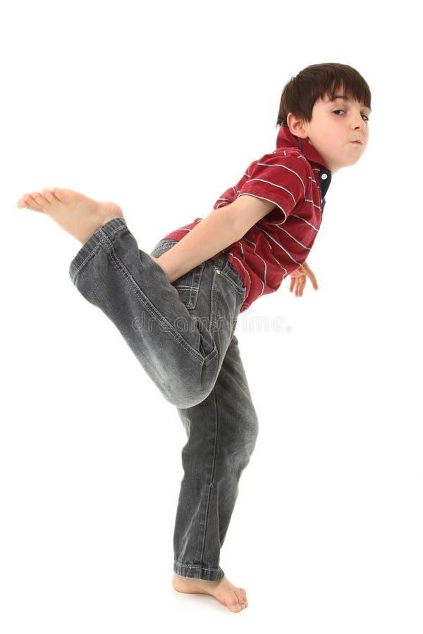 Dwaze Dansende Jongen royalty-vrije stock foto's