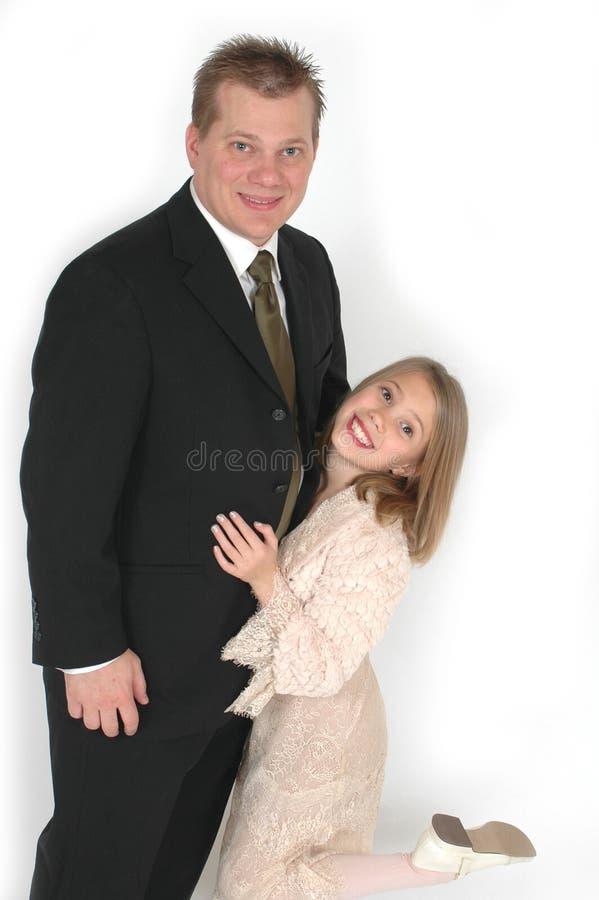 Dwaze Vader en Dochter royalty-vrije stock foto