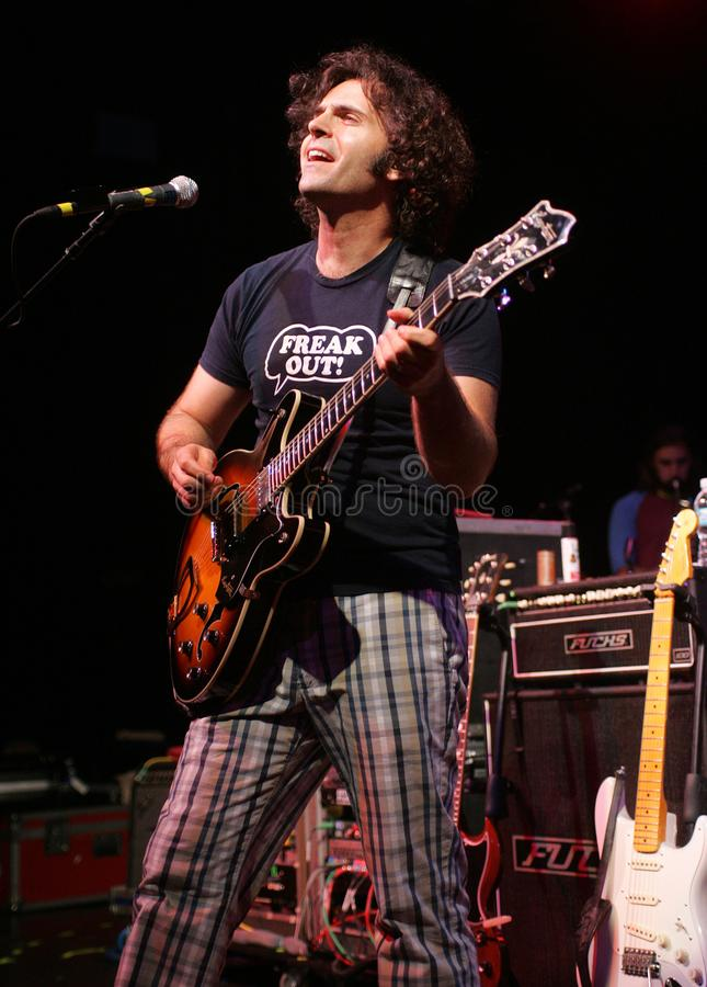 Dweezil Zappa performs in concert stock photography