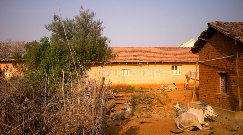 Dwelling in Indian province. royalty free stock photos