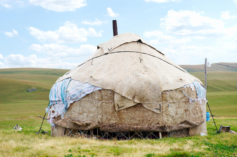 Download Dwelling Of The Nomad In Mountains Of Kazakhstan Stock Photo - Image of kazakh, house: 21865626