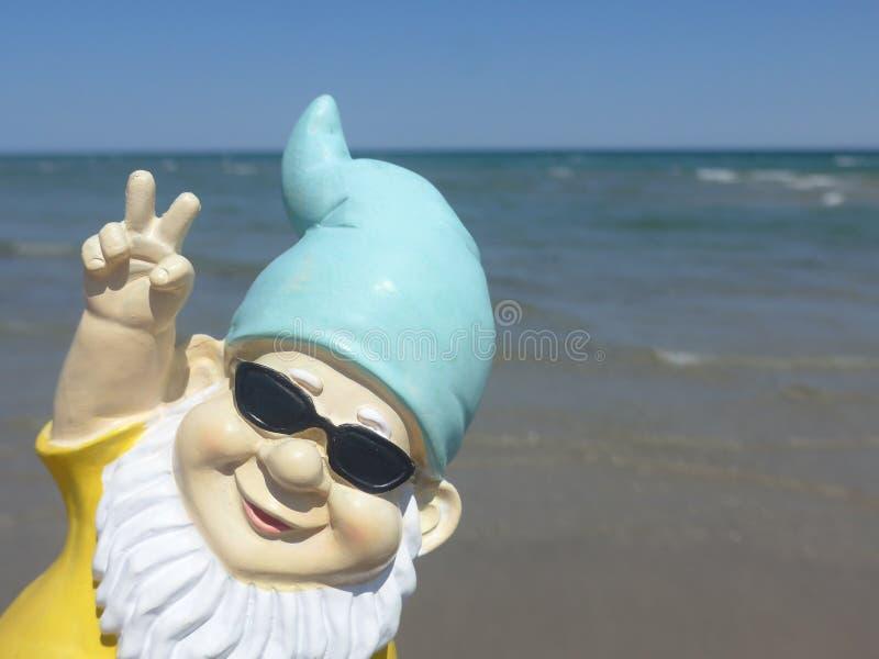 Dwerg met zonnebrilkust royalty-vrije stock foto's