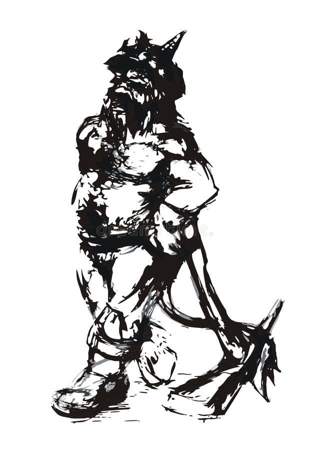 Dwerg mijnwerker stock illustratie