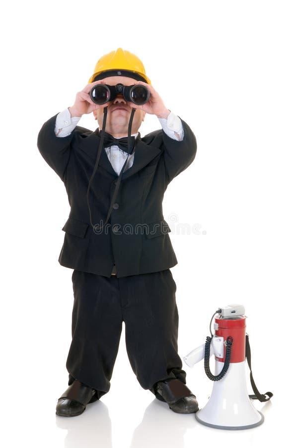 Dwerg, weinig mensensupervisor stock afbeelding