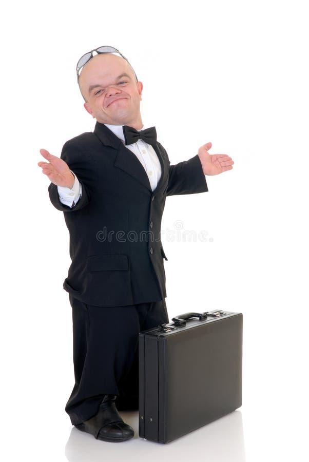 Dwerg, weinig zakenman royalty-vrije stock afbeelding
