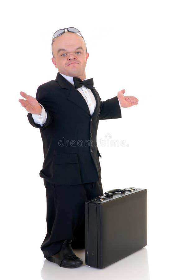 Dwerg, weinig zakenman royalty-vrije stock foto's