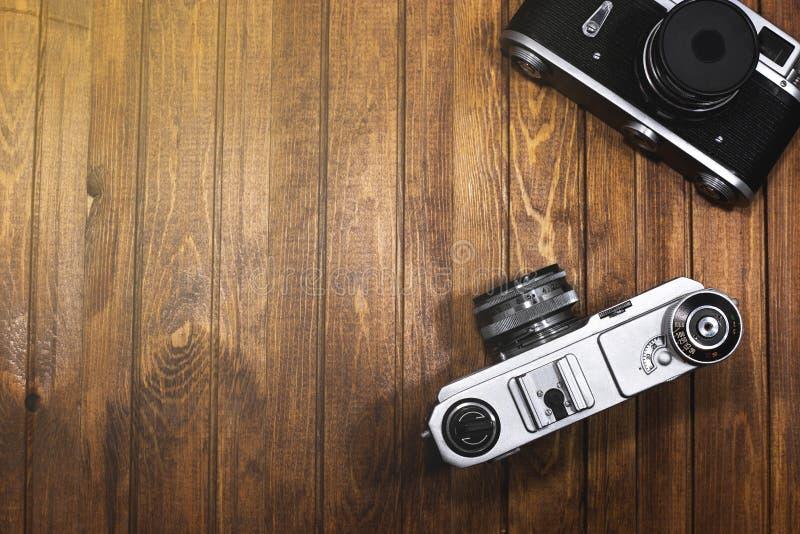 Dwie aparaty fotograficzne obraz stock