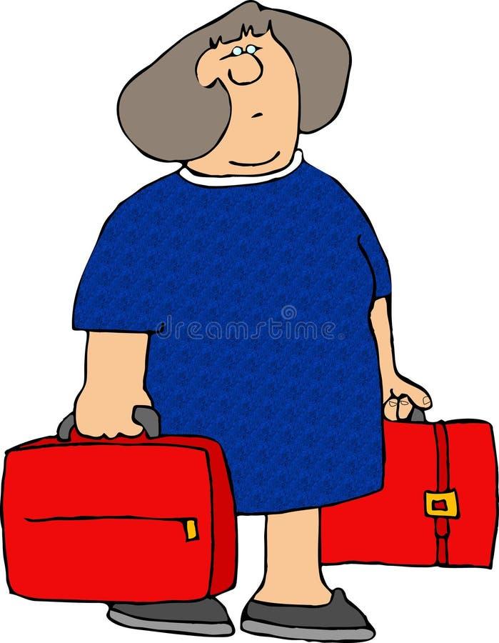 dwie czerwone walizki ilustracji