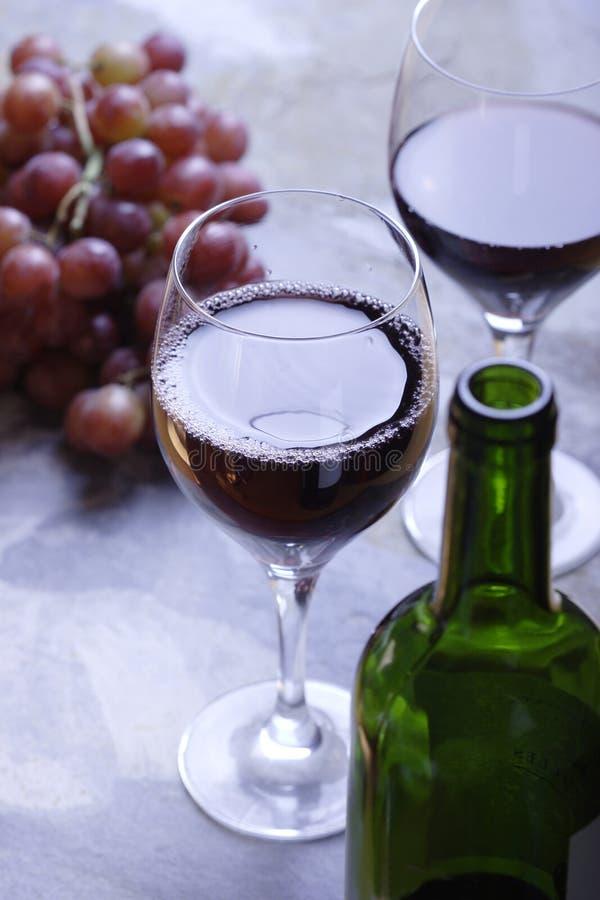 dwie czerwone wino szkła obraz stock
