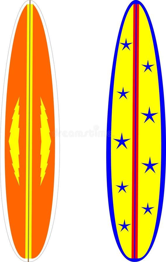 dwie deski surf royalty ilustracja