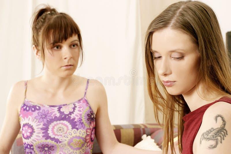 dwie dziewczyny obraz royalty free