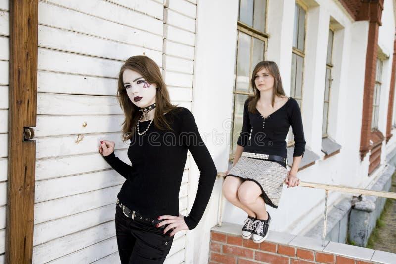 dwie dziewczyny piękności obraz stock