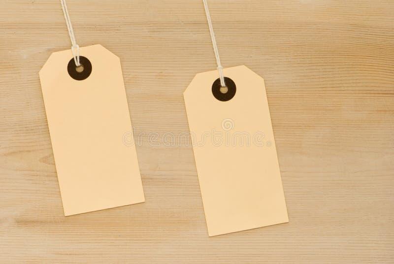 dwie etykiety obrazy stock