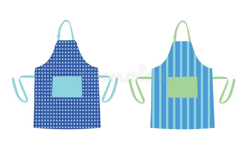 Dwie fartuchy kuchenne royalty ilustracja