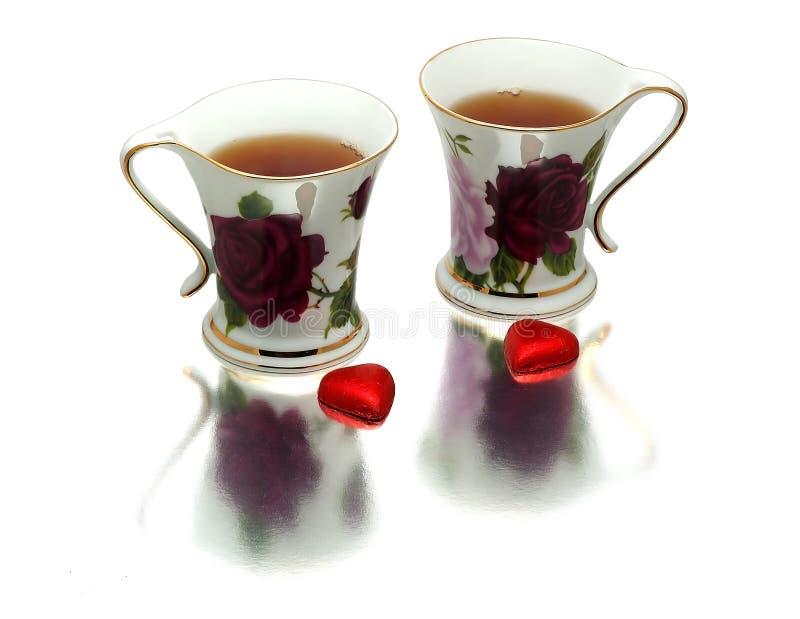 dwie filiżanki herbaty zdjęcia royalty free
