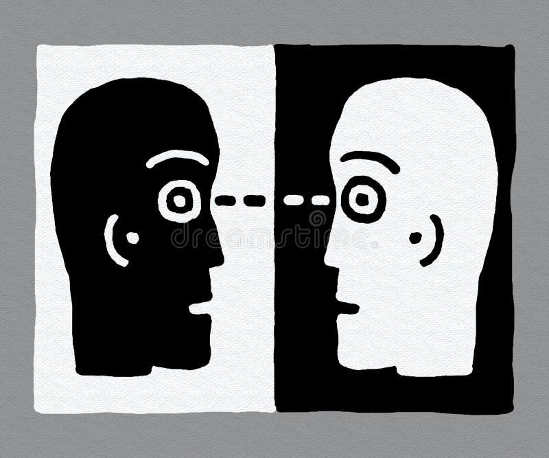 dwie głowy ilustracja wektor