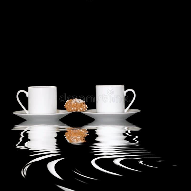 dwie kawy zdjęcie royalty free