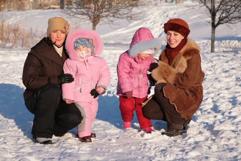 dwie matki dziecka fotografia stock