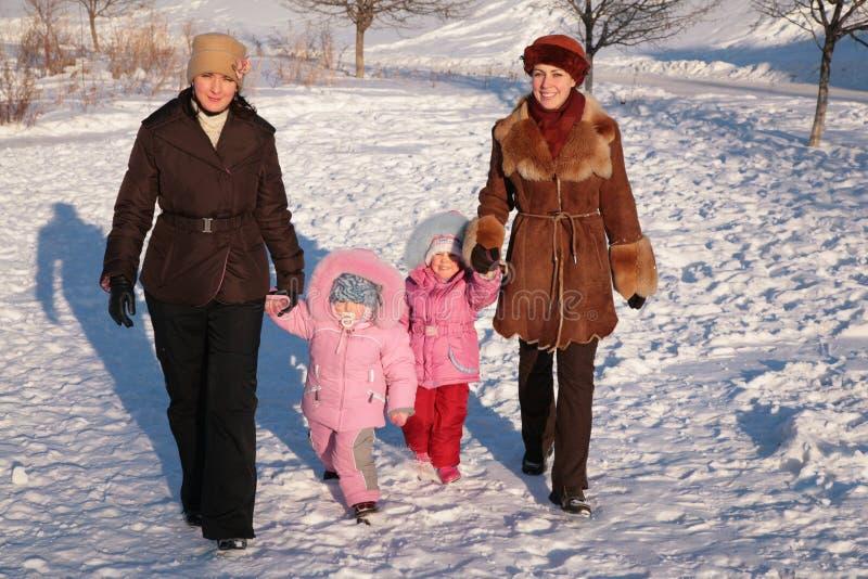 dwie matki dziecka obraz royalty free