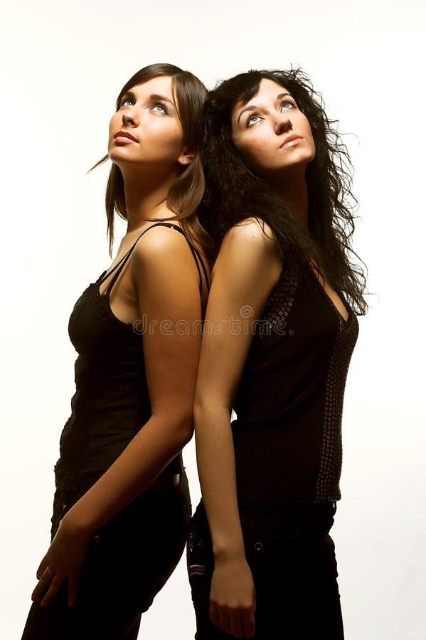 dwie piękne modeli fotografia royalty free