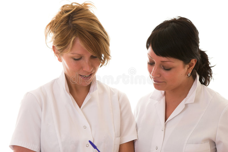 dwie pielęgniarki obrazy stock