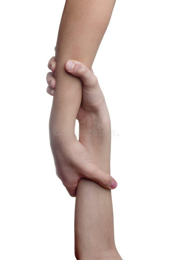 dwie ręce obrazy stock