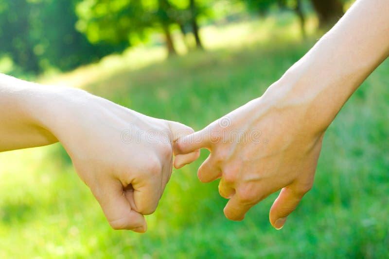 dwie ręce obraz stock