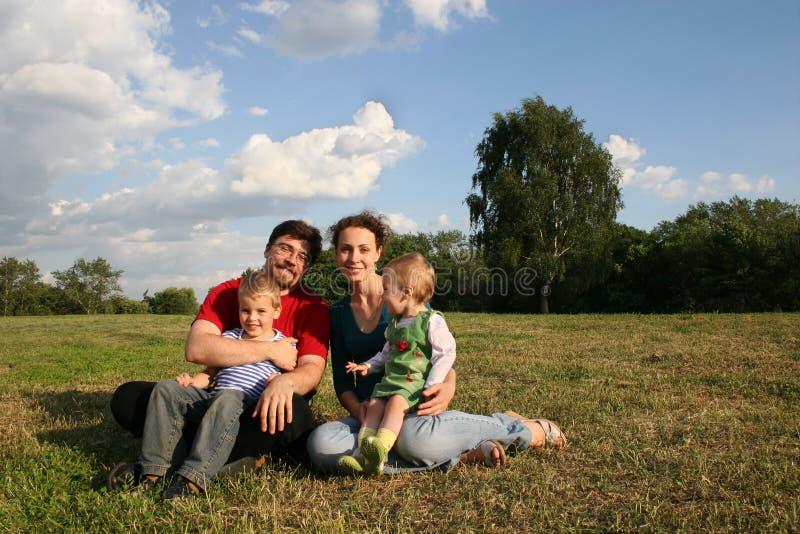 dwie rodziny dziecka obraz royalty free