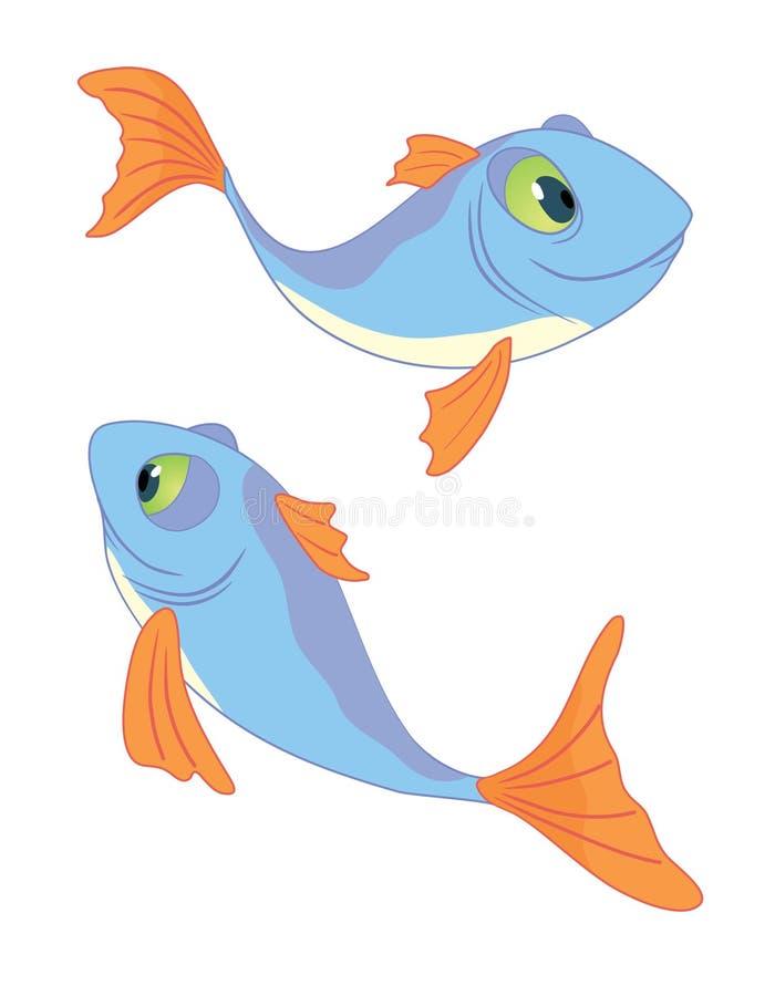 - dwie ryby royalty ilustracja