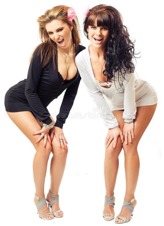 dwie seksowne dziewczyny zdjęcia stock