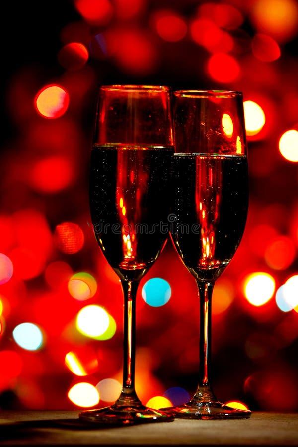 dwie szklanki szampana obrazy stock