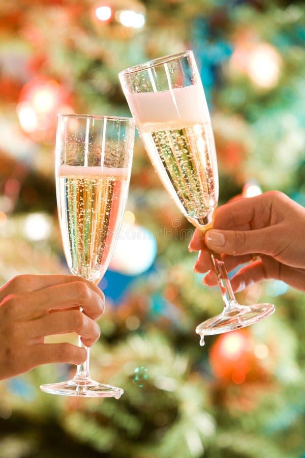 dwie szklanki szampana fotografia royalty free
