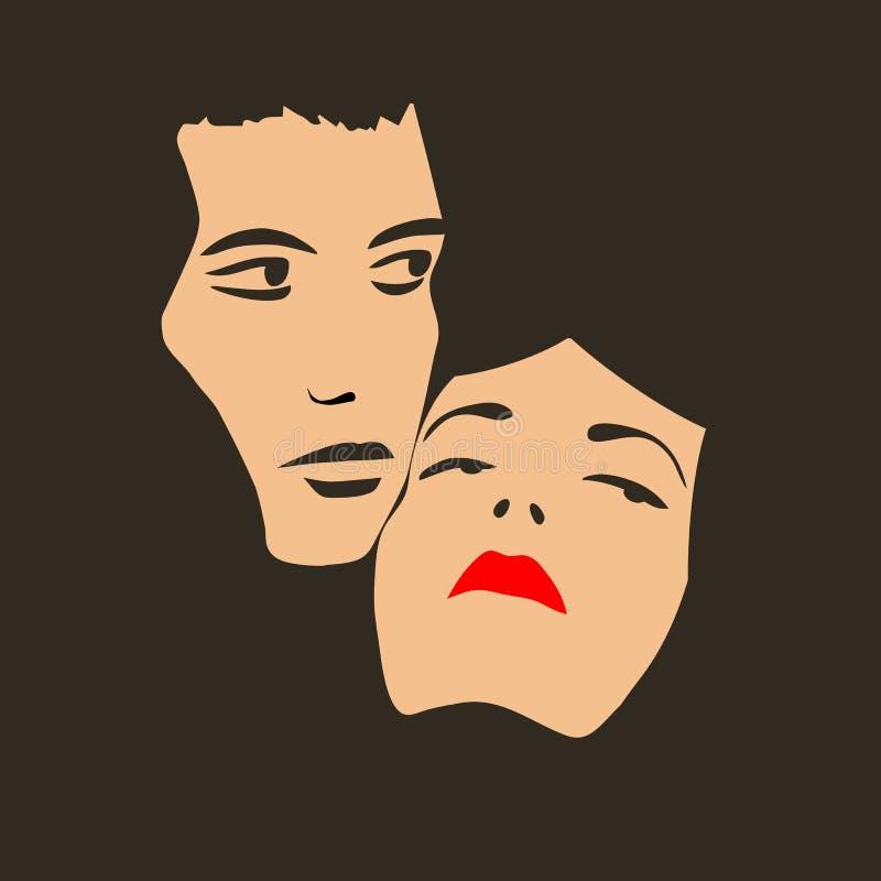 dwie twarze ilustracja wektor