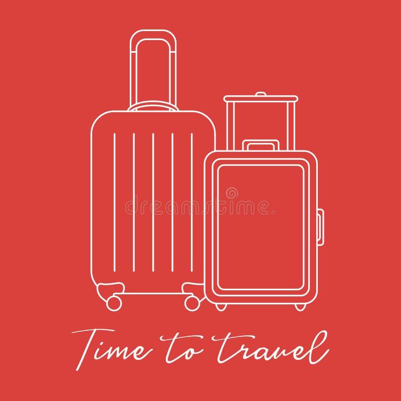 dwie walizki Lato czas, wakacje leisure royalty ilustracja