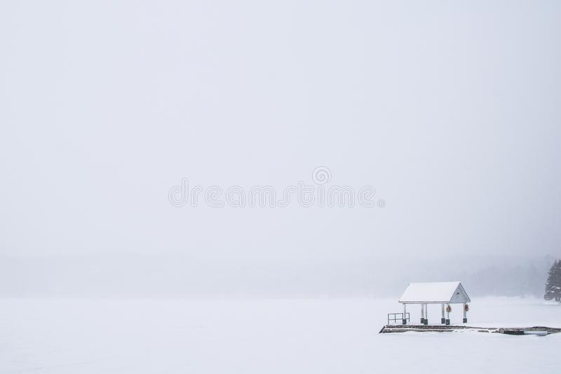 Dwight Beach - blanc dehors image stock