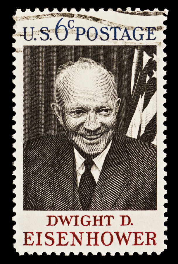 Dwight D. Eisenhower Postal Zegel royalty-vrije stock foto's