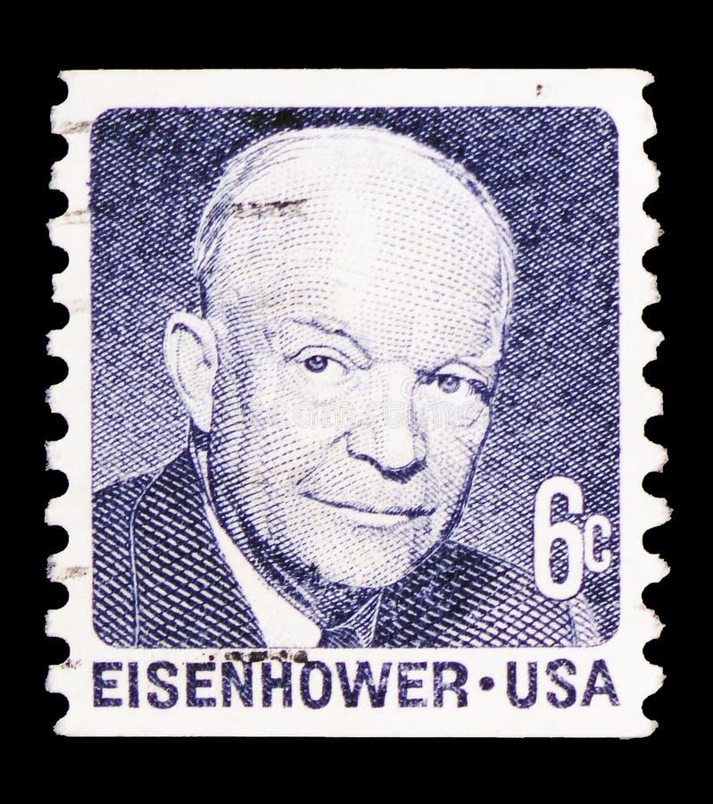 Dwight David Eisenhower vanlig serie för fråga 1970-1974, circa 1970 royaltyfri fotografi