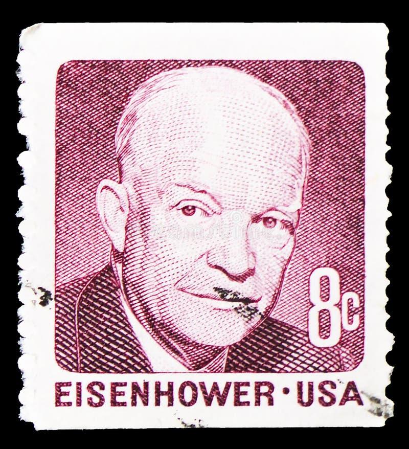 Dwight David Eisenhower vanlig serie för fråga 1970-1974, circa 1971 royaltyfria foton
