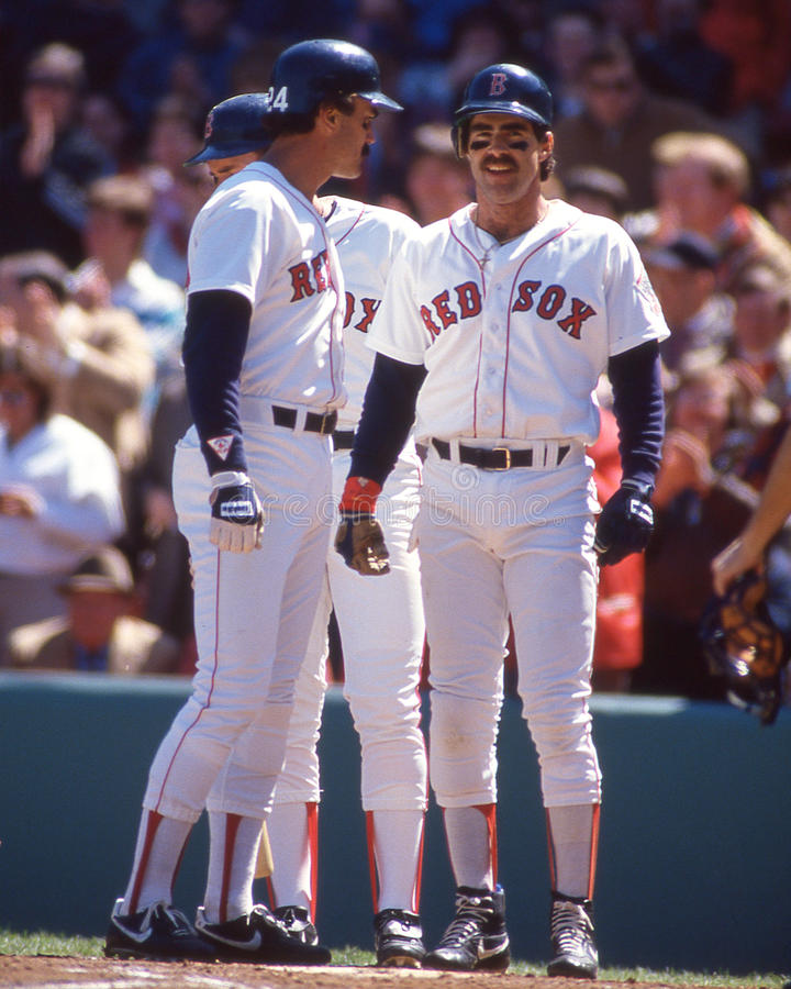 Dwight Evans och Bill Buckner Boston Red Sox fotografering för bildbyråer