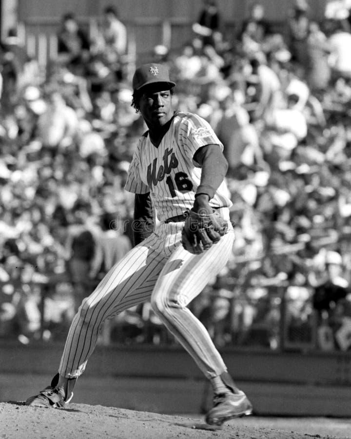 Dwight Gooden New York Mets royaltyfri foto