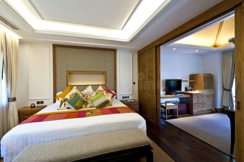 Dwoistego łóżka pokój fotografia royalty free