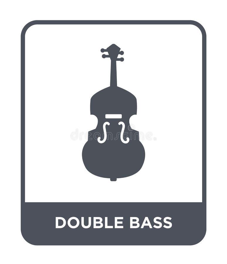 dwoistego basu ikona w modnym projekta stylu dwoistego basu ikona odizolowywająca na białym tle dwoistego basu wektorowa ikona pr ilustracji