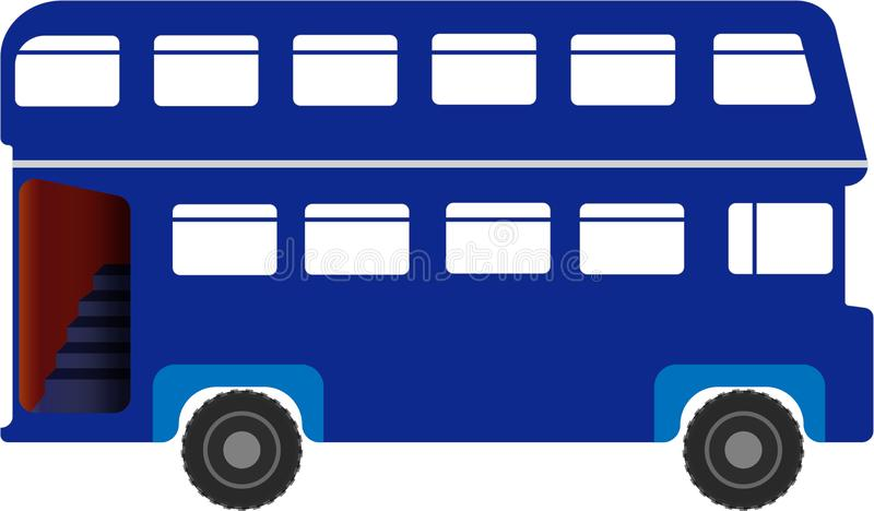 Dwoistego Decker autobusu logo wizerunku ikony EPS Ilustracyjna kartoteka Dostępna royalty ilustracja