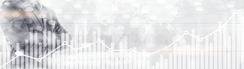 Dwoistego ujawnienia globalna światowa mapa na biznesowego pieniężnego rynek papierów wartościowych handlarskim tle fotografia stock