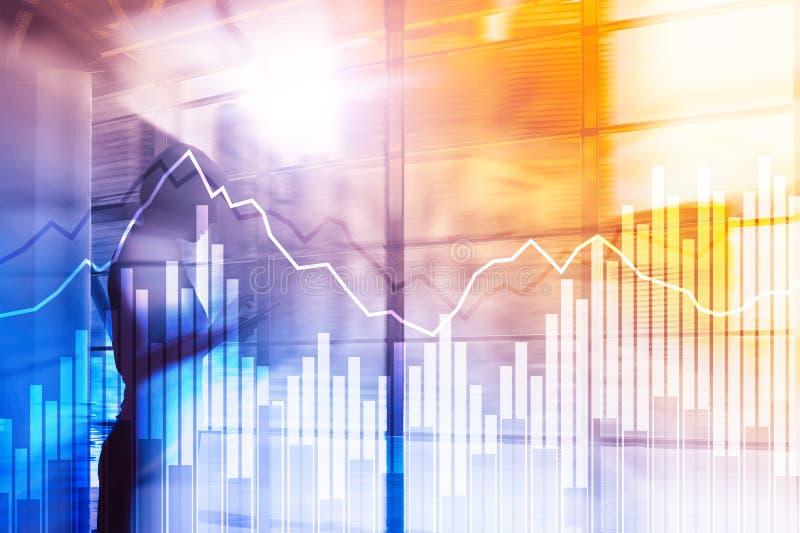 Dwoistego ujawnienia Pieniężni wykresy i diagramy Biznes, ekonomie i inwestorski pojęcie, ilustracja wektor