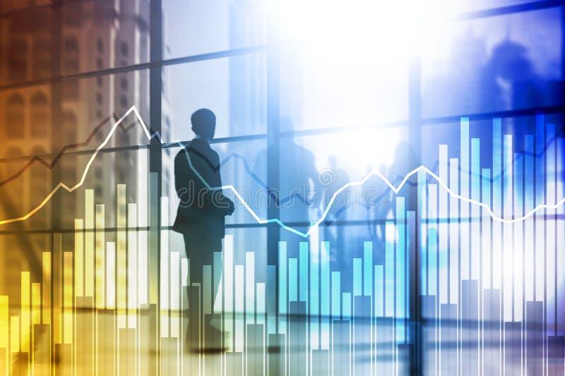Dwoistego ujawnienia Pieniężni wykresy i diagramy Biznes, ekonomie i inwestorski pojęcie, royalty ilustracja